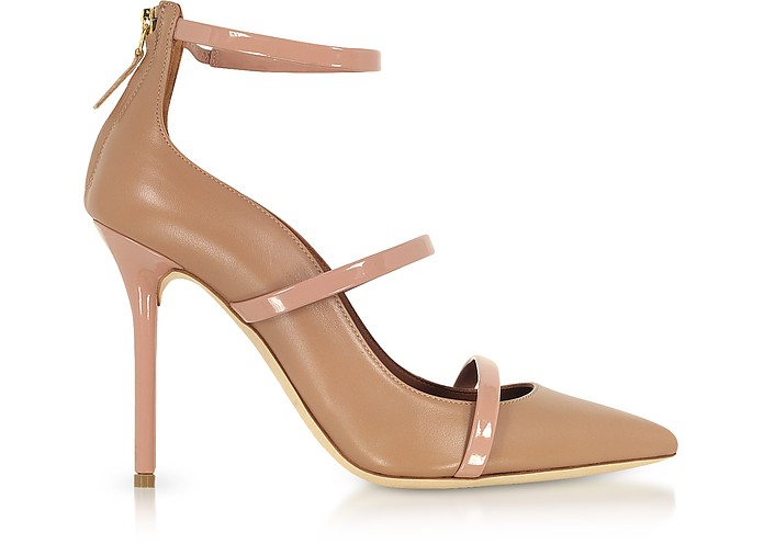 Robyn Nude and BLush Nappa Leather Pumps - Malone Souliers by Roy Luwolt