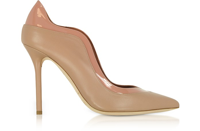 Penelope Nude and Blush Nappa Leather Pumps - Malone Souliers