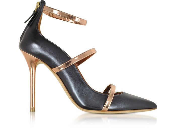 Robyn 100 Midnight Nappa Leather High Heel Pumps