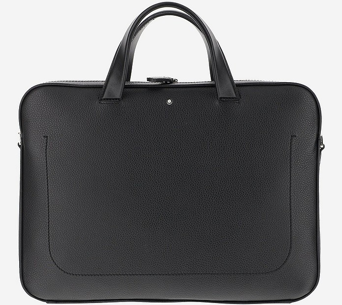 Black Soft Grain  Calf Leather Slim Briefcase  - Montblanc