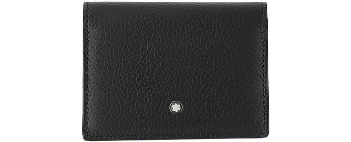 Pigmented & Chrome-tanned Calf Leather Men's Card Holder - Montblanc