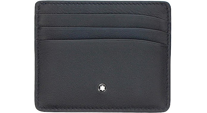 Blue Hammered Leather Card holder - Montblanc