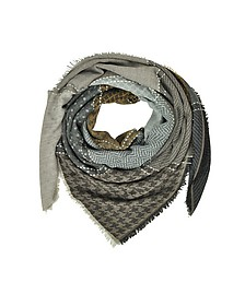 Printed Wool and Acrylic Shawl - Marina D'Este