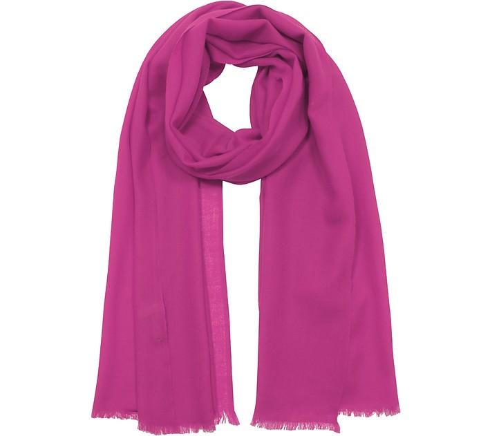 Solid Wool & Cashmere Pashmina - Marina D'Este