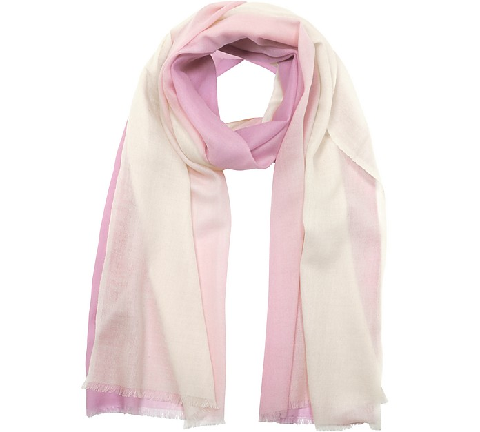 Gradient Wool & Cashmere Pashmina - Marina D'Este