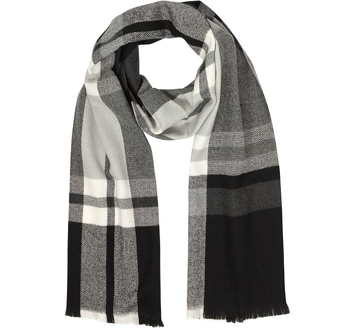 Tartan Wool & Cashmere Scarf - Marina D'Este