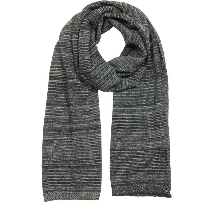 Striped Wool & Cashmere Scarf - Marina D'Este
