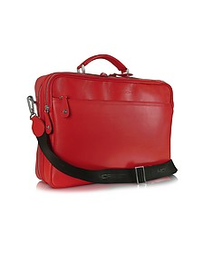 Calf Leather Laptop Briefcase  - Moreschi