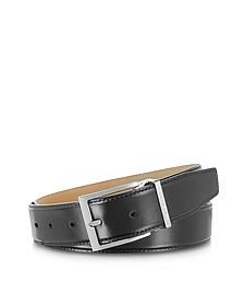 York Black Calf Leather Belt - Moreschi