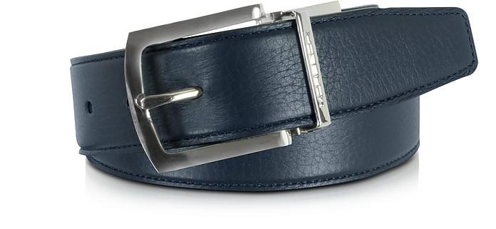 Orlando Navy Blue/Blue Reversible Leather Belt