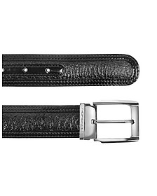 Chiasso - Black Peccary and Calf Leather Belt - Moreschi