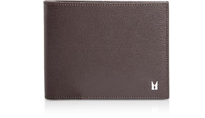 Saffiano Leather Men's Wallet w/Coin Pocket - Moreschi