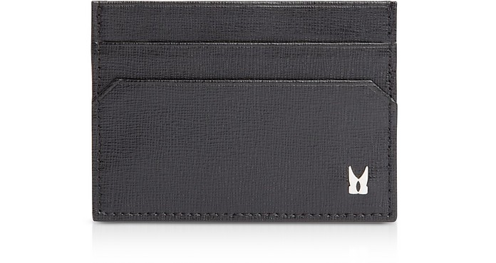 Printed Leather Men's Credit and Business Card Holder - Moreschi