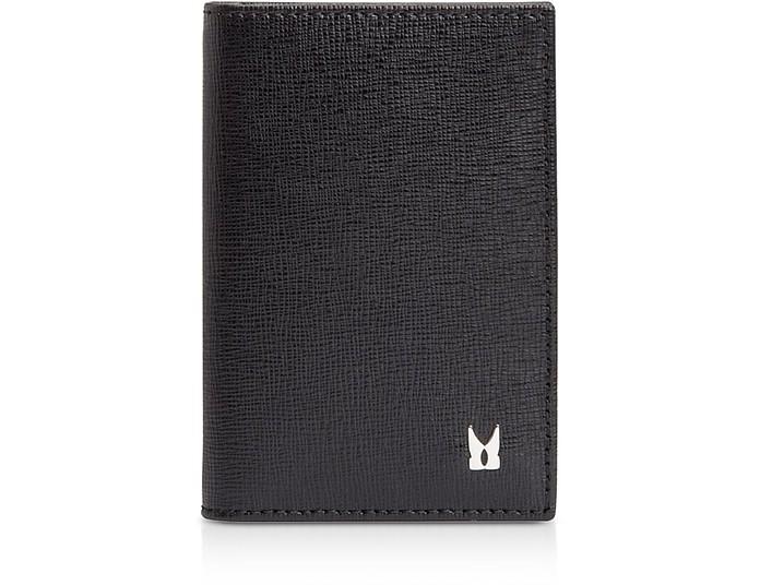 Printed Leather Men's Vertical Card Holder - Moreschi