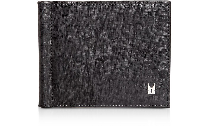 Printed Saffiano Calfskin Men's Wallet W/Money Clip - Moreschi