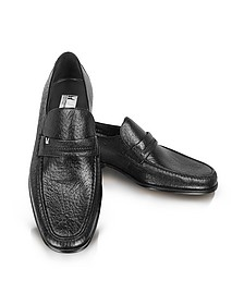 Amburgo - Buckle Black Loafer Shoes - Moreschi