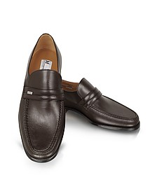 Monaco Wide Brown Leather Loafers - Moreschi