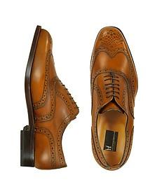 Oxford - Tan Calfskin Wingtip Shoes - Moreschi