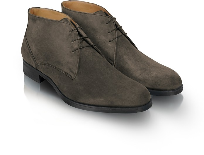 Stiria - Gray Suede Ankle Boots - Moreschi