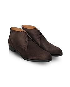Stiria - Dark Brown Suede Ankle Boots - Moreschi