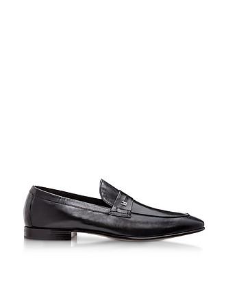 ba7efcce120 Brisbane Black M Kangaroo Leather Loafer Shoes - Moreschi