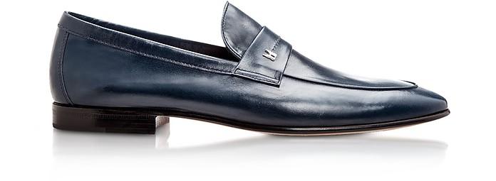 952073b240f Moreschi Brisbane Navy Kangaroo Leather Loafer Shoes 6 (7 US
