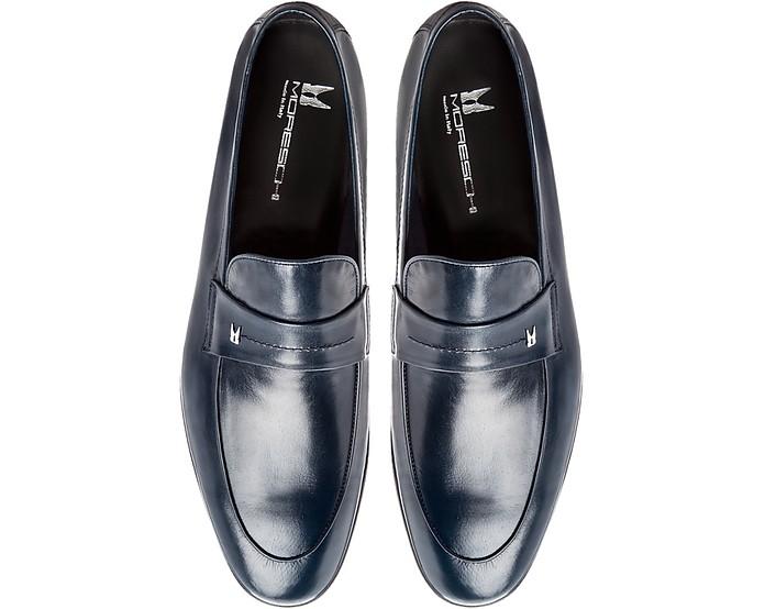 12c4b776d57 Brisbane Navy Kangaroo Leather Loafer Shoes - Moreschi.  401.40  669.00  Actual transaction amount