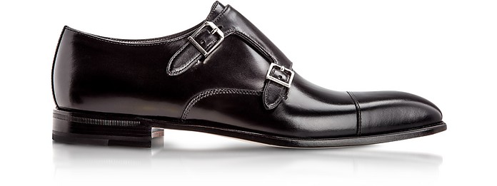 Toronto Black Calfskin Monk Shoes - Moreschi