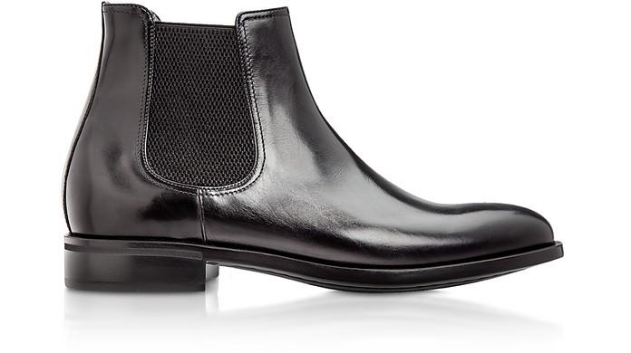Chelsea Black Calfskin Boots - Moreschi