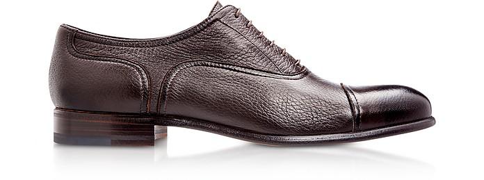 Nice Dark Brown Deerskin Oxford Shoes - Moreschi