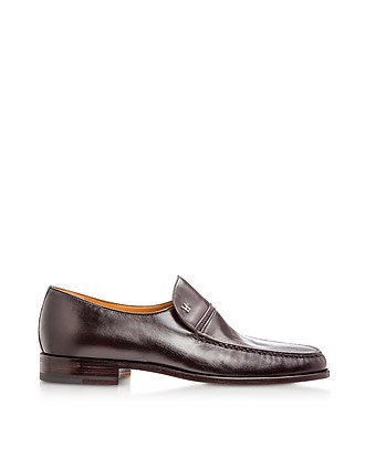 145e6643f2e Bonn Dark Brown Lambskin Loafer Shoes - Moreschi