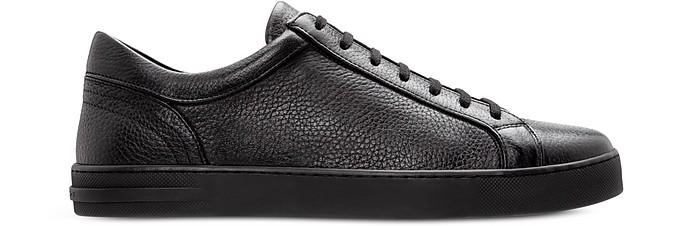Ibiza Black Deerskin Men's Sneakers - Moreschi