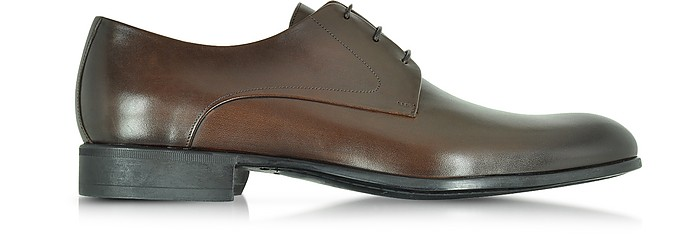 Liverpool Dark Brown Leather Derby w/Rubber Sole - Moreschi