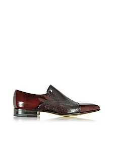 Metz Burgundy Leather Slip on Loafer - Moreschi