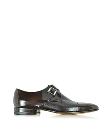Nancy Dark Brown Peccary Leather Monk Strap Shoe - Moreschi