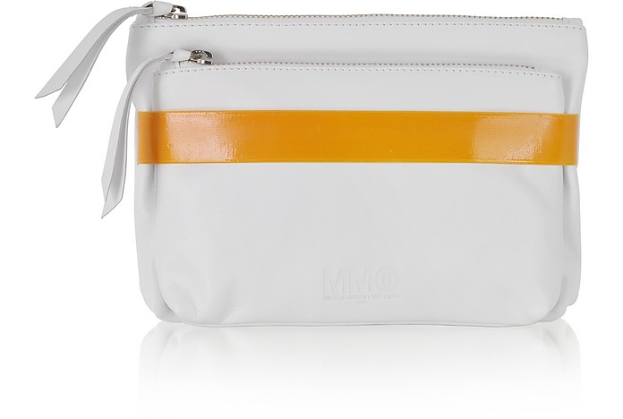 Color Block Double Leather Mini Clutch - MM6 Maison Martin Margiela
