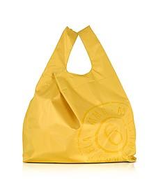 Yellow & White Double Face Nylon Market Bag w/Logo - MM6 Maison Martin Margiela