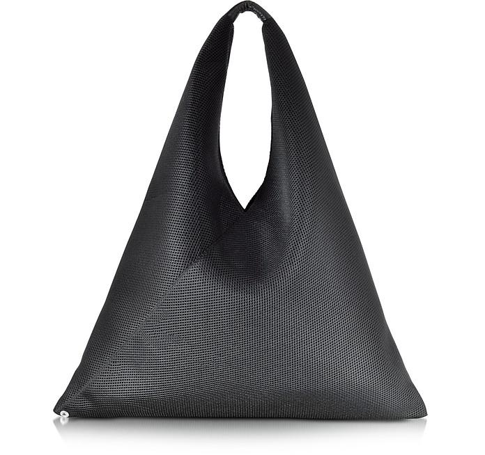 Black Net Fabric Oversize Japanese Tote Bag - MM6 Maison Martin Margiela