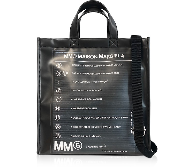Black New Shopping Backpack - MM6 Maison Martin Margiela