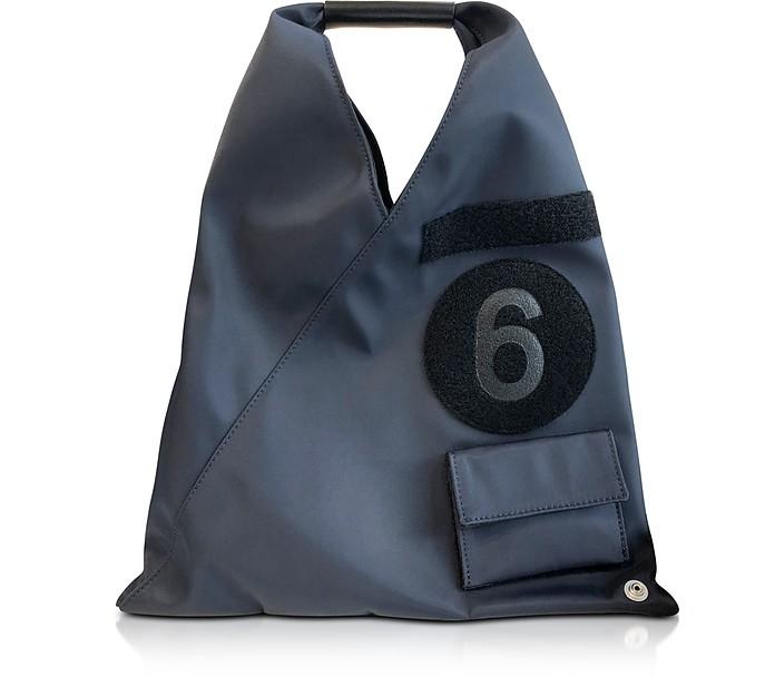 Dark Blue Nylon Small Japanese Tote Bag - MM6 Maison Martin Margiela