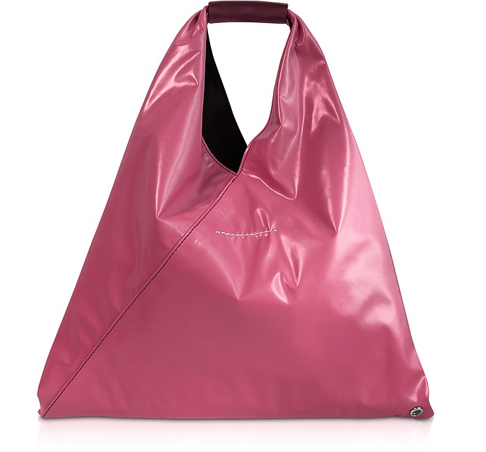 Pink Coated Jersey Small Japanese Tote Bag - MM6 Maison Martin Margiela
