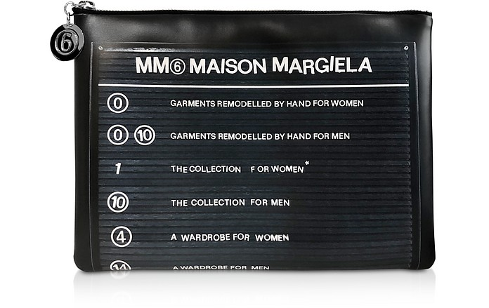 Clutch Signature Large Noir - MM6 Maison Martin Margiela