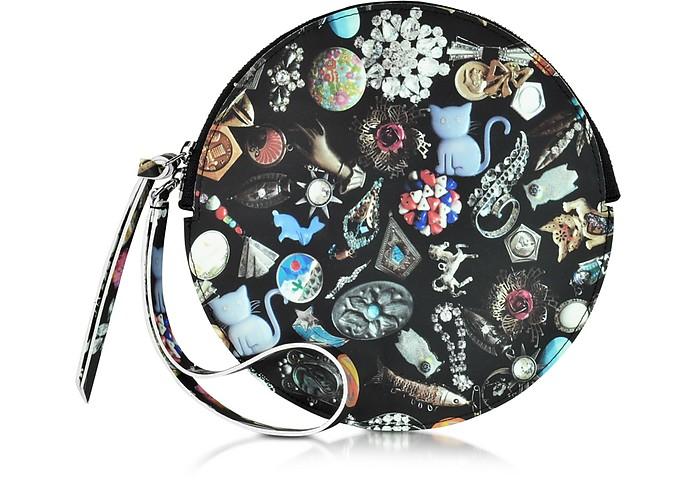 Jewelry Print Eco Leather Round Clutch - MM6 Maison Martin Margiela
