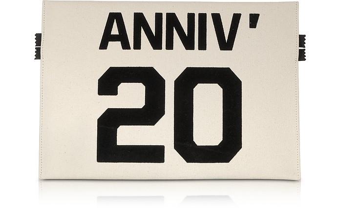 Anniversary 20 Canvas Flat Clutch - MM6 Maison Martin Margiela