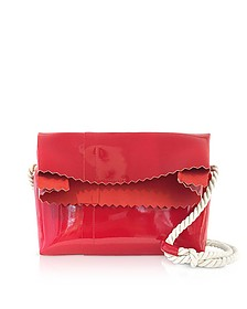 Red Patent Leather Foldover Shoulder Bag - MM6 Maison Martin Margiela