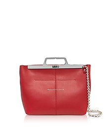 Red Leather Foldover Tote - MM6 Maison Martin Margiela