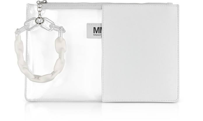 White Half Transparent Pouch - MM6 Maison Martin Margiela / MM6 メゾンマルタンマルジェラ