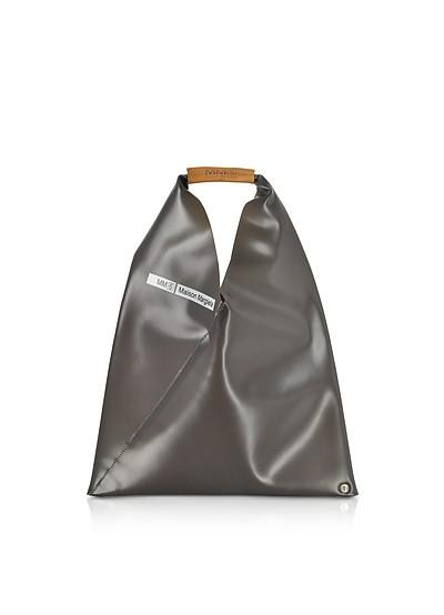 Japanese Small Charcoal Gray PVC Tote Bag - MM6 Maison Martin Margiela