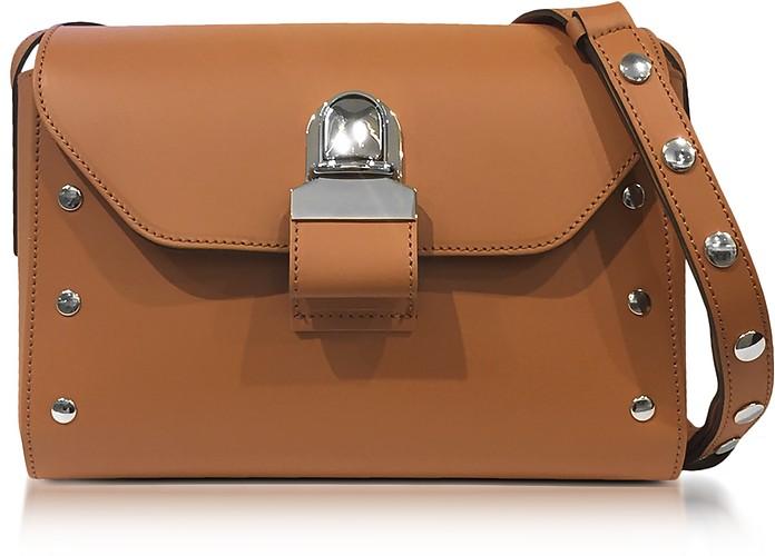Brown Leather Shoulder Bag - MM6 Maison Martin Margiela