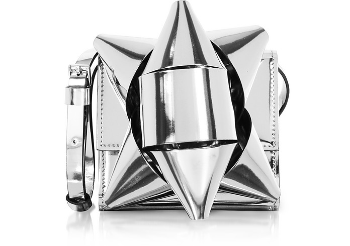 Metallic Eco-Leather Bow Shoulder Bag - MM6 Maison Martin Margiela
